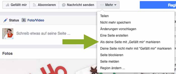 Alternative Facebook Interessensliste: Seitenfeed