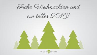 Web & Wissen wünscht Frohe Weihnachten