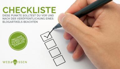Checkliste Veröffentlichung Blogartikel Download